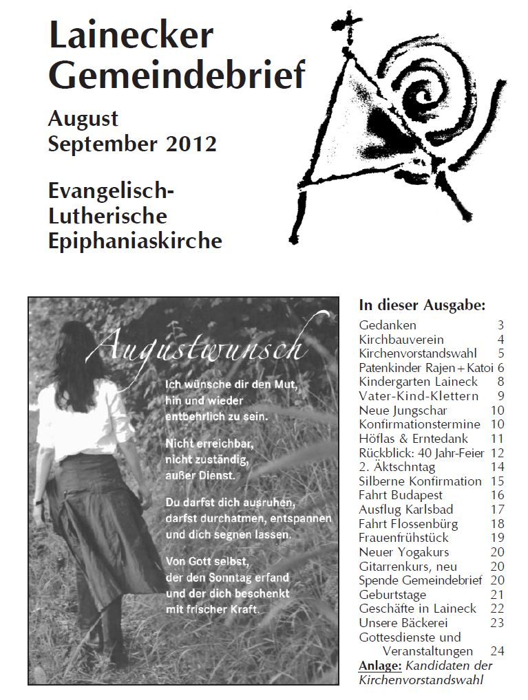 Gemeindebrief August/September 2012