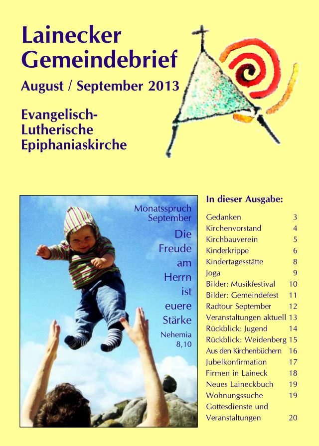 Gemeindebrief August/September 2013