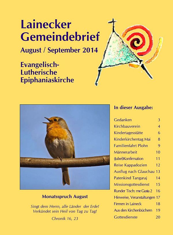 Gemeindebrief August/September 2014