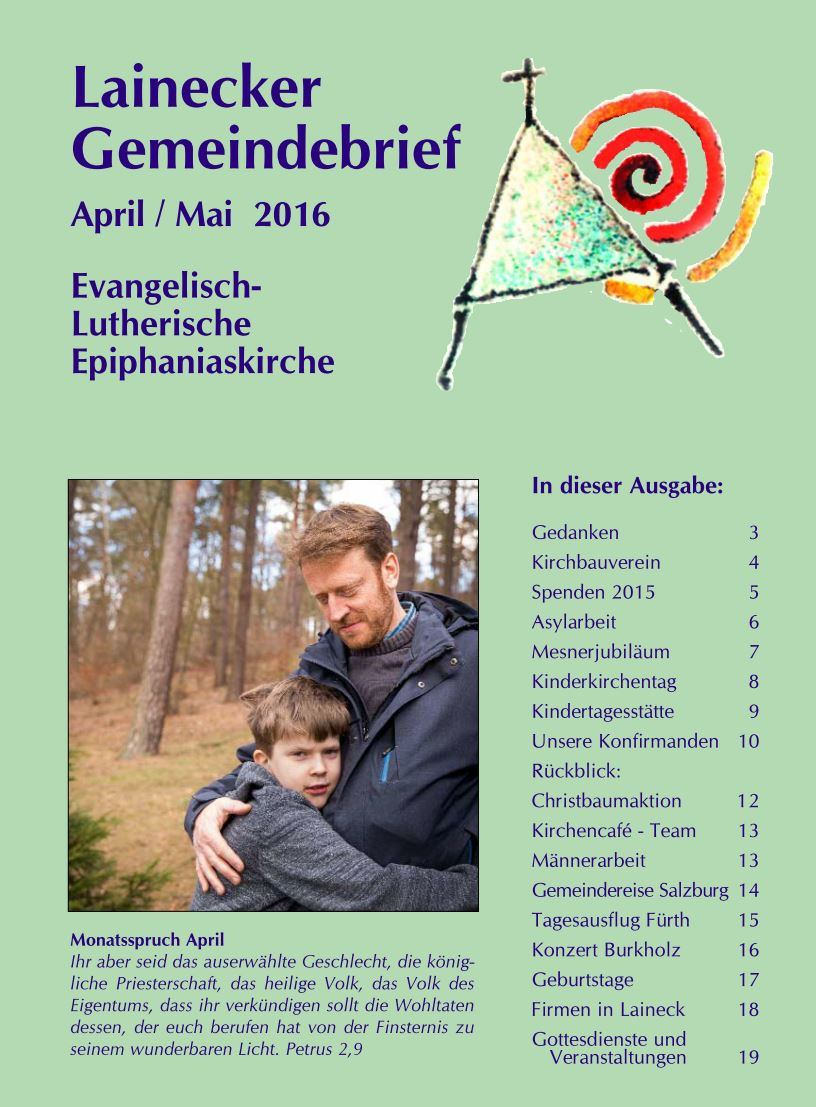 Gemeindebrief April/Mai 2016