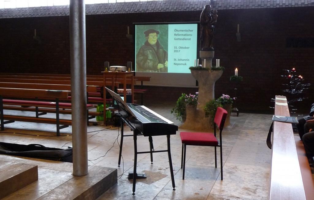 vor dem Gottesdienst